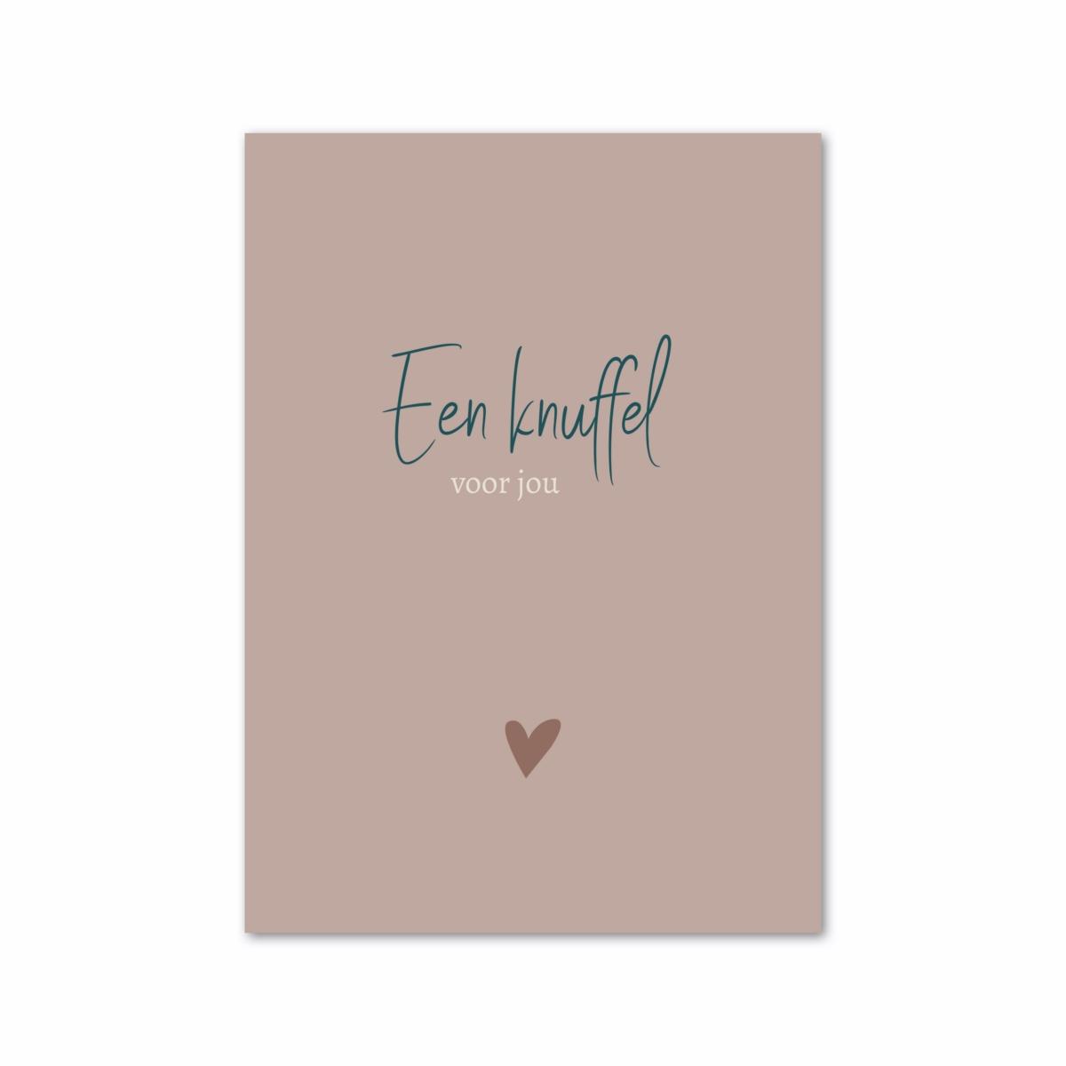 kaart knuffel voor jou