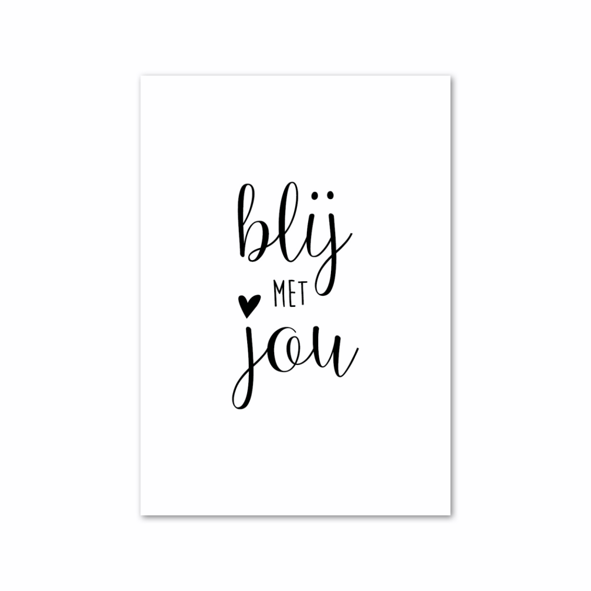 Minikaartje - Blijmetjou