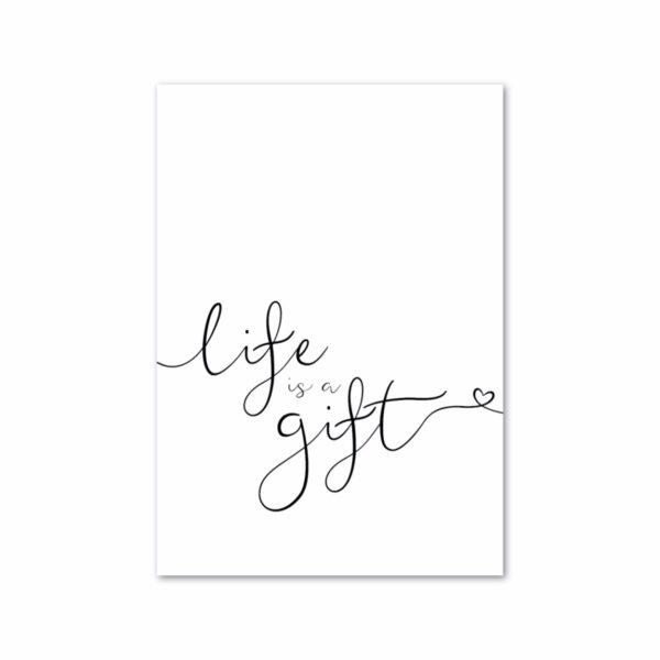 Minikaartje - Lifeisagift