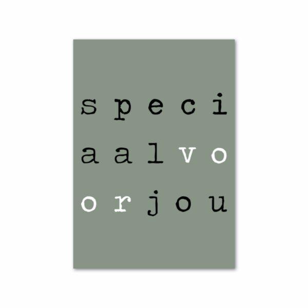 Minikaartje - Speciaalvoorjou