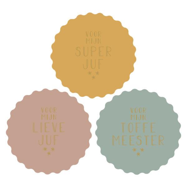 Stickers juf/meester