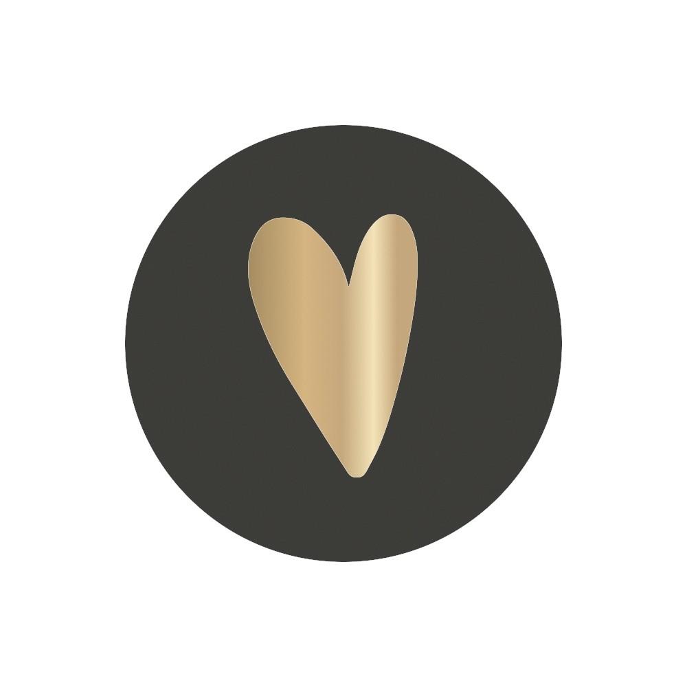 Sticker hart matzwart
